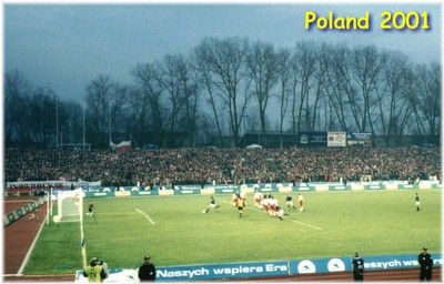 Booth scoring the equaliser, Poland 2001