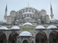 The Blue Mosque, in the snow